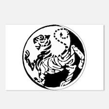Yin Yang Shotokan Tiger Postcards (Package of 8)
