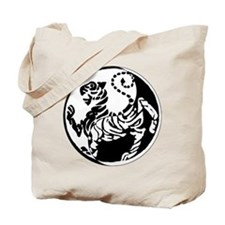 Yin Yang Shotokan Tiger Tote Bag