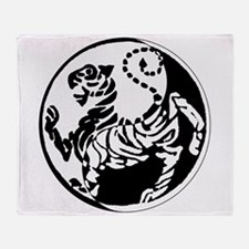 Yin Yang Shotokan Tiger Throw Blanket