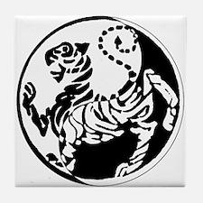 Yin Yang Shotokan Tiger Tile Coaster