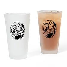 Yin Yang Shotokan Tiger Drinking Glass