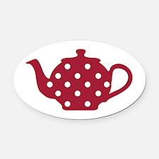 Tea Pot Oval Car Magnet