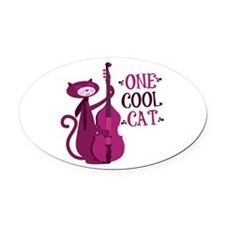 One Cool Cat Oval Car Magnet