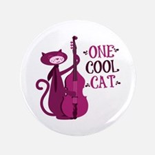 "One Cool Cat 3.5"" Button"