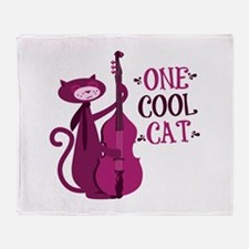 One Cool Cat Throw Blanket