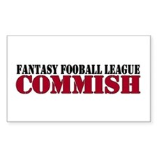 Fantasy Football Commish Rectangle Decal