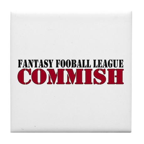 Fantasy Football Commish Tile Coaster