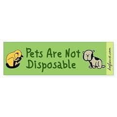 Not Disposable Green Bumper Bumper Sticker