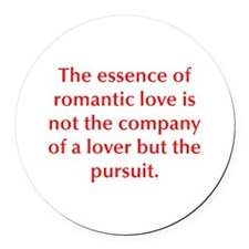 The essence of romantic love is not the company of
