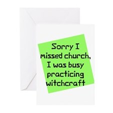 Busy Practicing Witchcraft Greeting Cards (Package
