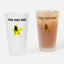 Field Hockey Player Silhouette Star (Custom) Drink
