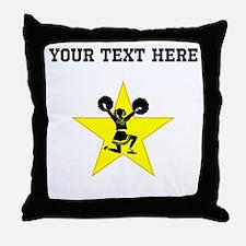 Cheerleader Star (Custom) Throw Pillow