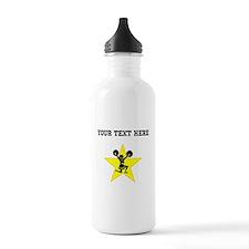 Cheerleader Star (Custom) Water Bottle