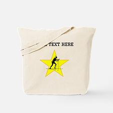 Biathlete Silhouette Star (Custom) Tote Bag