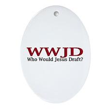 WWJD Oval Ornament