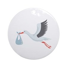 Stork The Delivery Ornament (Round)
