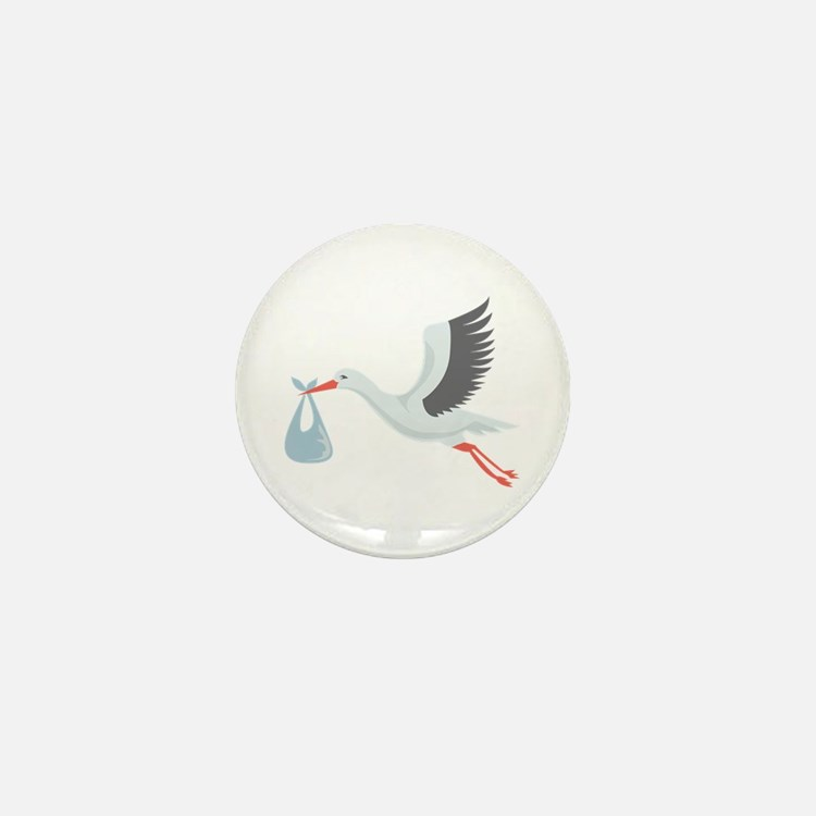 Stork The Delivery Mini Button