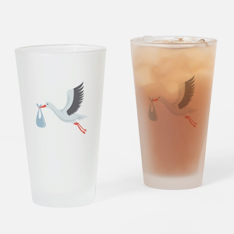 Stork The Delivery Drinking Glass