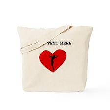 Volleyball Serve Heart (Custom) Tote Bag