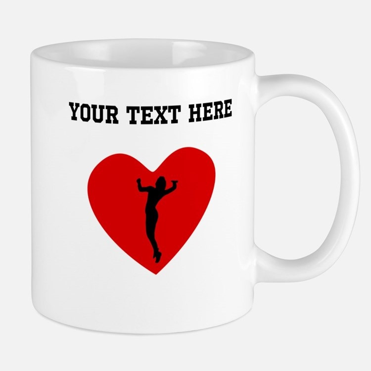 Volleyball Serve Heart (Custom) Mugs