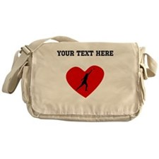Shot Put Heart (Custom) Messenger Bag
