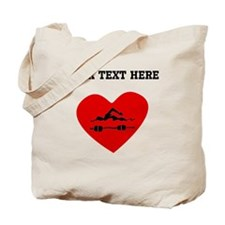 Swimmer Heart (Custom) Tote Bag