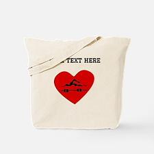 Swimmer Heart (Custom) Tote Bag