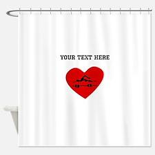 Swimmer Heart (Custom) Shower Curtain