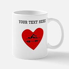 Swimmer Heart (Custom) Mugs