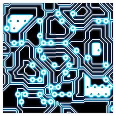 Electron - Blue/black Wall Art Poster