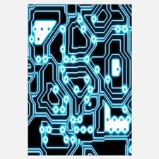 Electron - Blue/black Wall Art