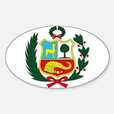 Peru Coat of Arms Oval Bumper Stickers