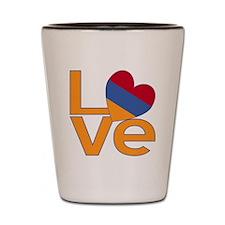 Armenian LOVE Shot Glass