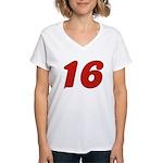 Kissable 16 Women's V-Neck T-Shirt