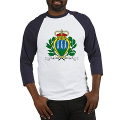 San Marino Coat of Arms Baseball Jersey