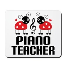 Piano Teacher music ladybug Mousepad