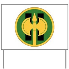 11th Military Police Brigade Insignia.pn Yard Sign