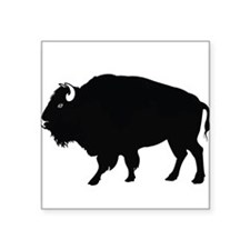 "Unique Bison Square Sticker 3"" x 3"""