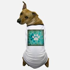 Blue Paw Dot Dog T-Shirt
