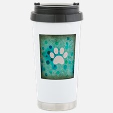 Blue Paw Dot Stainless Steel Travel Mug