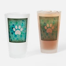 Blue Paw Dot Drinking Glass