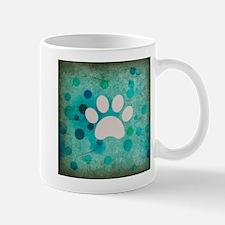 Blue Paw Dot Mug