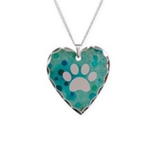 Blue Paw Dot Necklace