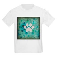 Blue Paw Dot T-Shirt