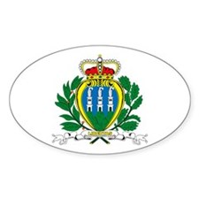 San Marino Coat of Arms Oval Decal