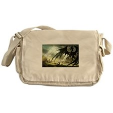 Great Black Dragon Messenger Bag