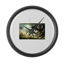 Great Black Dragon Large Wall Clock