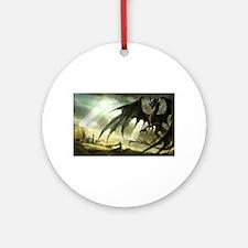 Great Black Dragon Ornament (Round)