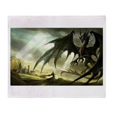 Great Black Dragon Throw Blanket