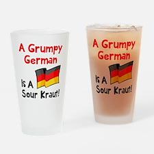 Grumpy German Drinking Glass